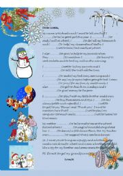 English Worksheet: Past Simple: A letter for Santa