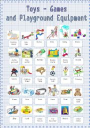 Toys - Games and Playground Equipment Vocabulary