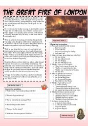 english worksheet the great fire of london. Black Bedroom Furniture Sets. Home Design Ideas