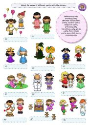 English Worksheets: Parties! (2/2)
