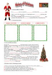 English Worksheets: The History of Christmas - Great video!! (editable + key)