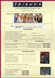 English Worksheet: Friends Season 10, episode 11 / used to