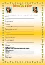 English Worksheets: Interview Beyoncé