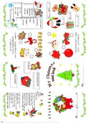 English Worksheet: Christmas mini book 1