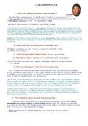 Columbus Day Webquest _ answer sheet