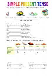 Simple Present Tense Quiz - ESL worksheet by UgiTeacher