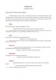 English Worksheets: Basic parts of the language