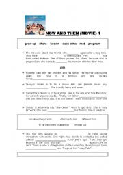 English Worksheets: NOW AND THEN MOVIE