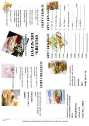 English Worksheet: ORDERING BREAKFAST