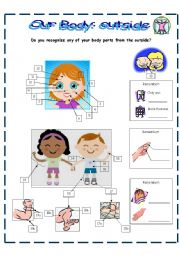English Worksheets: Our body: outside