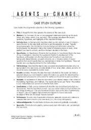 English Worksheets: case study outline