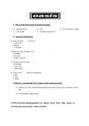 English Worksheet: Wonderwall by Oasis
