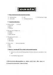 English Worksheet: Wonderwall by Oasis