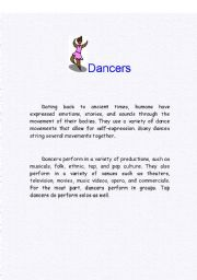 English Worksheets: DANCERS