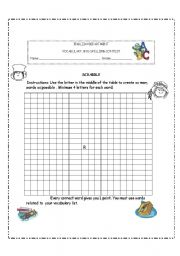 English Worksheet: SCRABBLE WORKSHEET