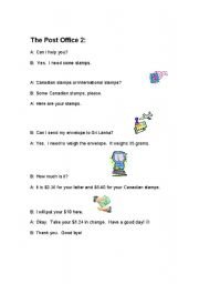 English Worksheet: Post Office Story 2
