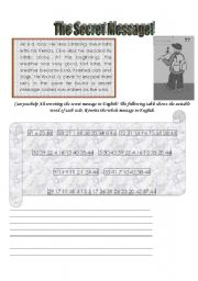 English Worksheets: The secret message!