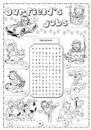English Worksheet: Garfield�s jobs