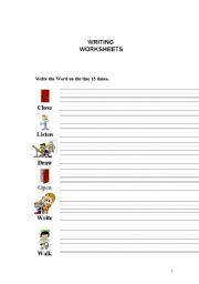 English Worksheets: WRITING WORKSHEET 2