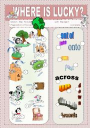 English Worksheet: Prepositions of Movement  plus exercises and key - 3 pages