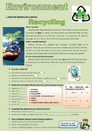 ENVIRONMENT - RECYCLING