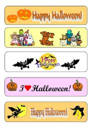 English Worksheets: Halloween bookmarks
