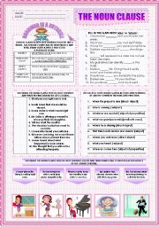 Printables Noun Clause Worksheet english worksheet the noun clause