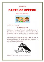parts of speech help Learning the parts of speech will help your students better understand how languages work a strong knowledge of the parts of speech is requisite to language study.