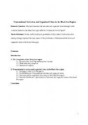 English Worksheets: Black Sea Region