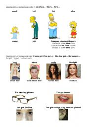 English Worksheets: useful expressions to describe someone�s appearance
