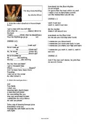 English Worksheet: THE BOY DOES NOTHING PRESENT SIMPLE SONG