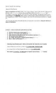 English Worksheets: juana de ibarbourou
