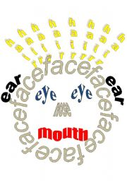 English Worksheets: funny face