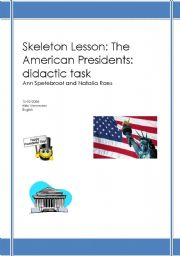 English Worksheets: lessonplan American Presidents