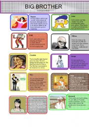 Role play activity- Big Brother - ESL worksheet by silvination