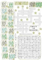 English Worksheets: NUMBERS (2)