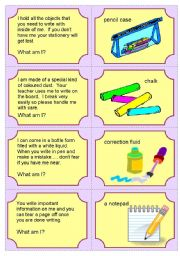 English Worksheets: Riddles - Classroom equipment  2 of  2