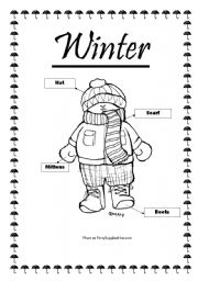 math worksheet : english teaching worksheets winter clothes : Winter Worksheets Kindergarten