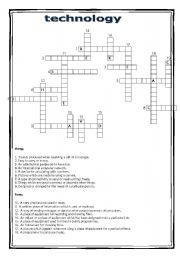 technology - worksheet by Loreley