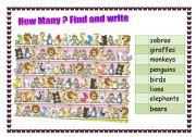 English worksheet: Find the animals