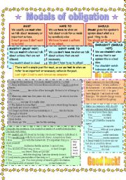 English Worksheet: Modals of obligation