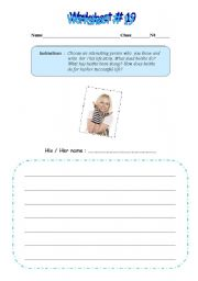 English Worksheets: Interesting person