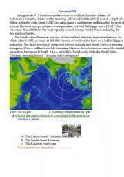 English Worksheet: Tsunami 2004