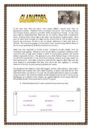 English Worksheets: Gladiators