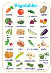 English Worksheet: VEGETABLES PICTURE DICTIONARY