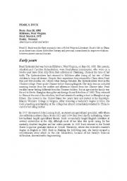 English Worksheets: Pearl S. Buck
