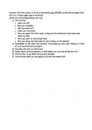 English Worksheets: outline for a letter