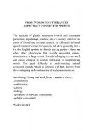 English Worksheets: speech