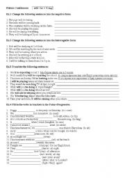 English teaching worksheets: Future continuous/
