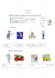 English Worksheets: action